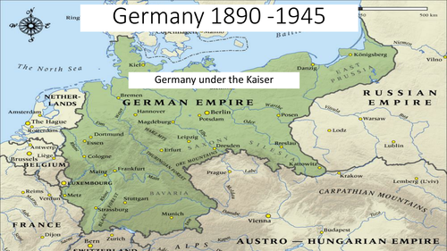 Germany 1890 - 1945 Kaiser and German constitution