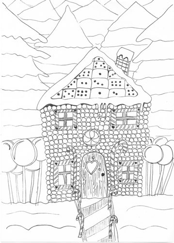 Gingerbread House Christmas Colouring Page | Teaching ...