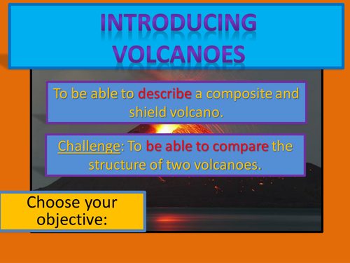 KS3 Geography: the structure of a volcano