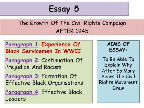 higher history usa essay development of the civil rights  higher history usa essay 5 development of the civil rights movement by alixtharris1988 teaching resources tes