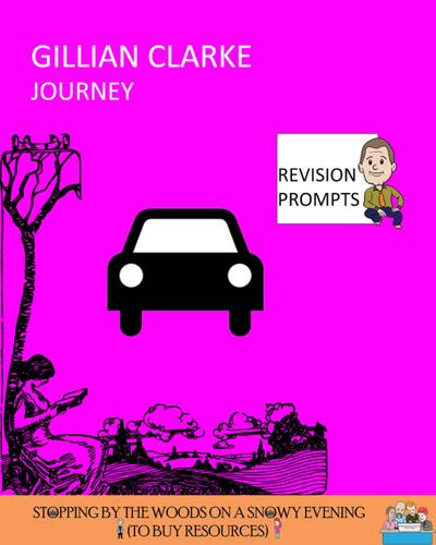 Free Sample *** 'Journey' - Gillian Clarke - Revision Prompts ***