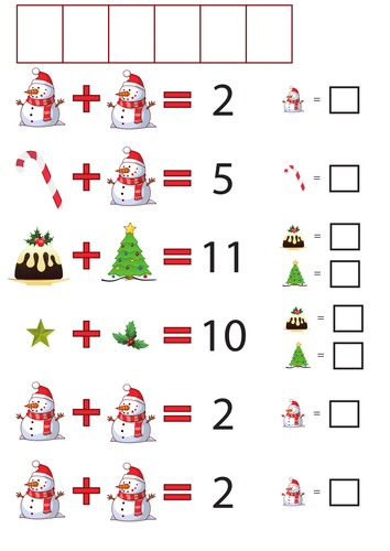 Maths: Christmas addition codes