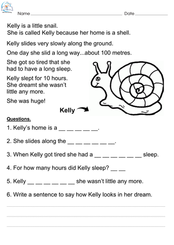 First Grade Reading Comprehension Passages By Little Tots