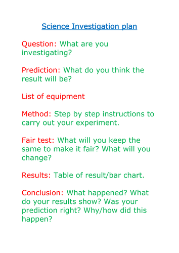 Science Investigation Plan