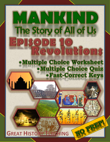 mankind the story of all of us episode 10 worksheet and quiz revolutions by mesquitequail. Black Bedroom Furniture Sets. Home Design Ideas