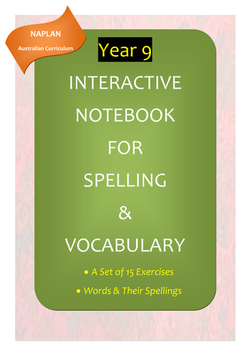 NAPLAN: Year 9 Interactive Notebook for Spelling & Vocabulary