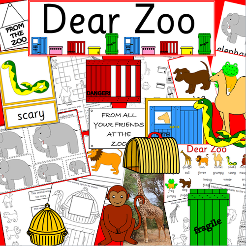 Dear Zoo story resource pack- story sack