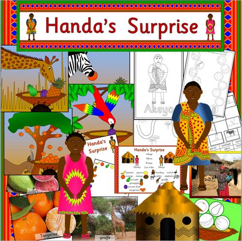Handa's Surprise story resource pack- story sack