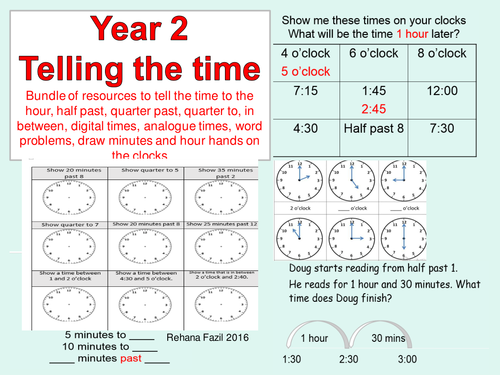 Year 2 Telling the time