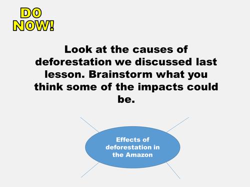 New AQA GCSE The Living World- Tropical Rainforests Lesson #6