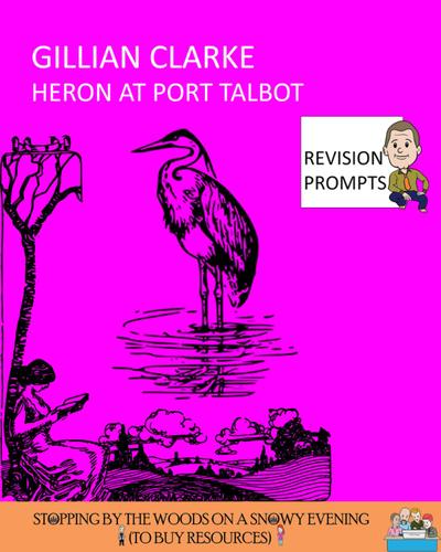 Free Sample *** 'Heron at Port Talbot' - Gillian Clarke - Line by Line analysis ***