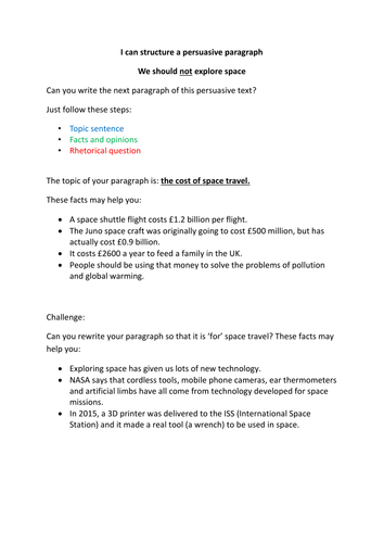 Small Essays In English I Can Structure A Persuasive Paragraph  Persuasive Writing By Extra  Goldentime  Teaching Resources  Tes Health Promotion Essay also The Yellow Wallpaper Essay Topics I Can Structure A Persuasive Paragraph  Persuasive Writing By Extra  Custom Term Papers And Essays