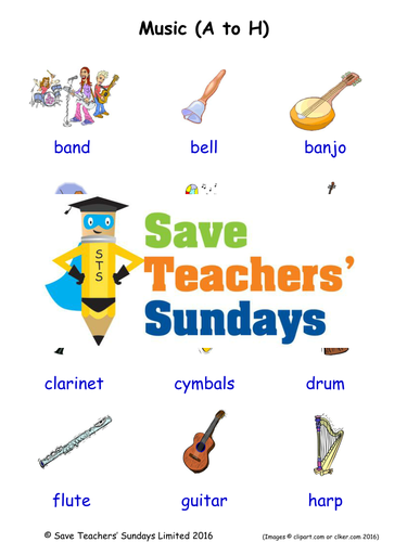 Elementary School English Language Learning Resources Music