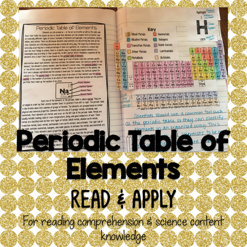 Periodic table of elements read and apply by smithscienceandlit periodic table of elements read and apply by smithscienceandlit teaching resources tes urtaz Choice Image