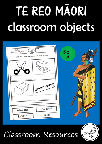 Te Reo Māori  -  Classroom Objects - Set A