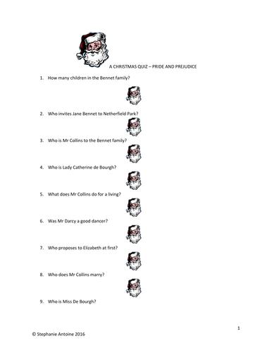 A Christmas Quiz - Pride and Prejudice