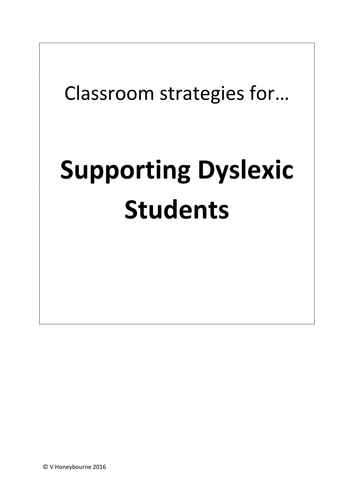 Staff CPD pack: Meeting the needs of dyslexic students