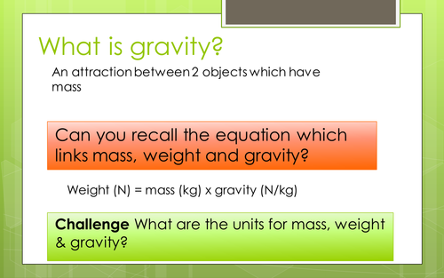 Space:  Gravity & Orbits (KS3 Activate)