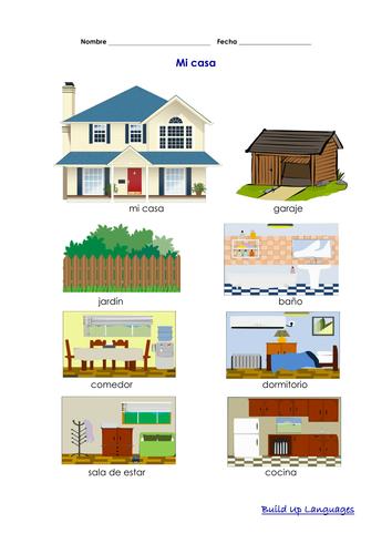 Mi casa Habitaciones Muebles vocabulario