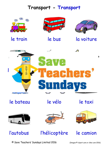 Transport In French Worksheets Games Activities And