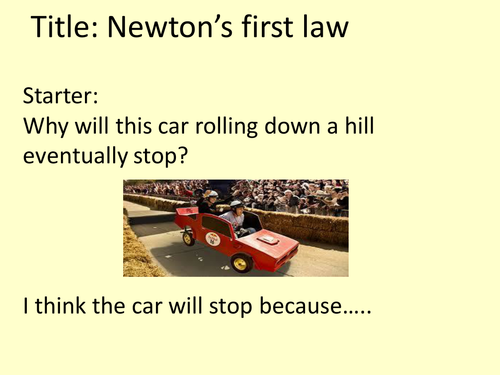 Introduction to Newton's First Law