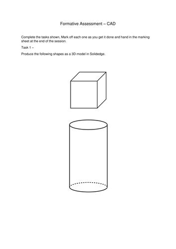 Solidedge/Engineering drawing worksheet