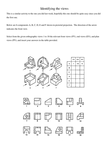 Engineering Drawing introductory activities