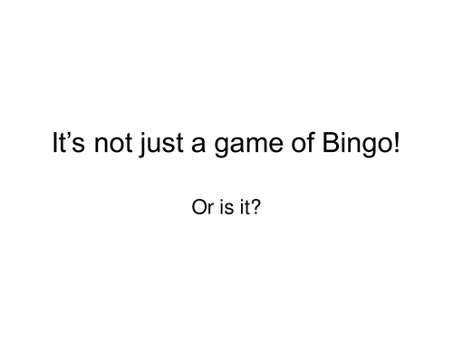 MATHS 2018 :  Ratio bingo Mathematics