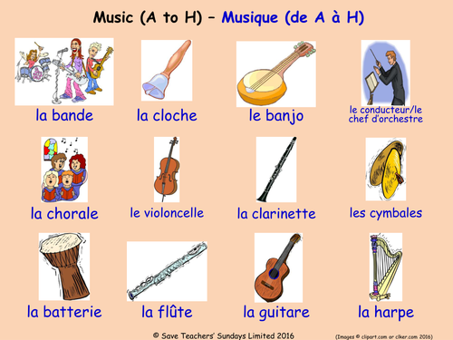 Musical Instruments in French Posters (2 French  posters)