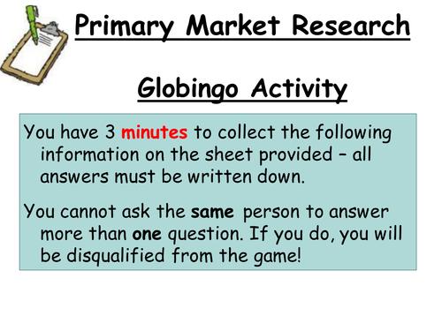 Primary Market Research - GCSE Business Studies Lesson