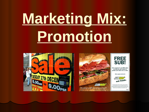 Suitable Promotional Methods for a Small Business (Marketing Topic - GCSE Business)