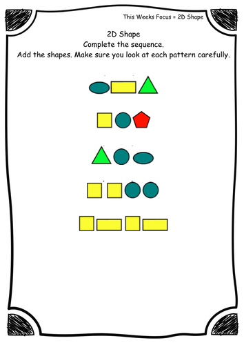 Pattern Worksheets : pattern worksheets tes Pattern Worksheets and ...