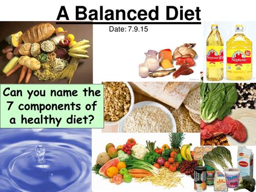 KS3 biology balanced diet