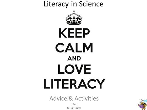 Literacy in science booklet