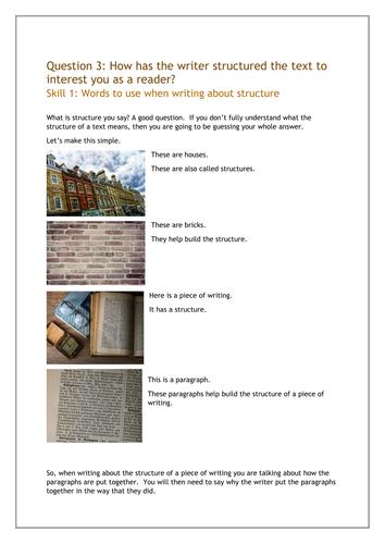 AQA English Language Paper 1 Question 3