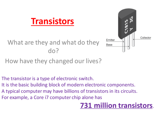 GCSE Phyiscs Transistors ( OCR 21st Century P6 )