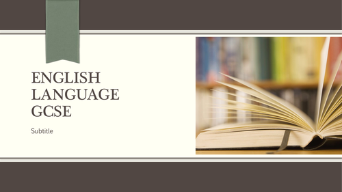 OCR English Language New GCSE Lesson 2