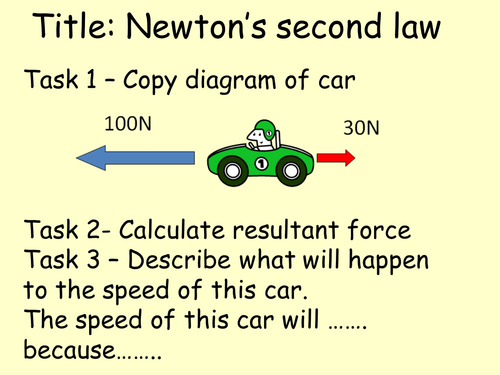 Introduction lesson to Newton's Second Law