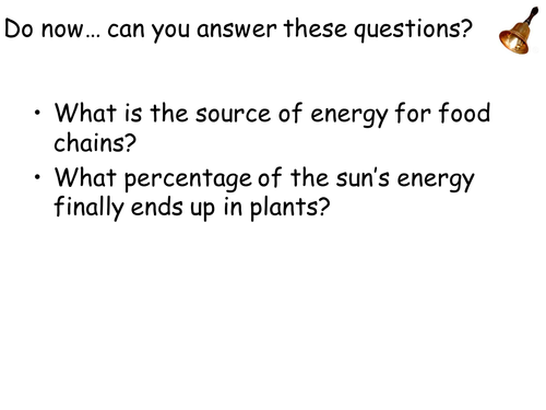 AQANew Spec A-Level Year 2 Chapter 3.5.3 Energy & Ecosystems. Lesson 2: Productivity in Ecosystems