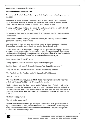 A CHRISTMAS CAROL USEFUL EXEMPLAR WORK | Teaching Resources