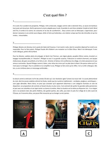 Reading comprehension - Film