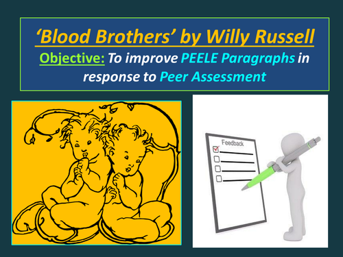 'Blood Brothers' EDUQAS iGCSE Literature Peer Assessment
