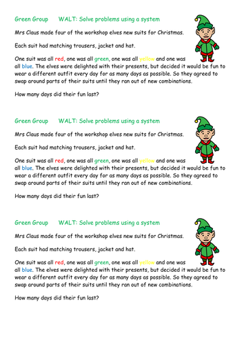 Elf Suits Systematic Working activity/ Problem