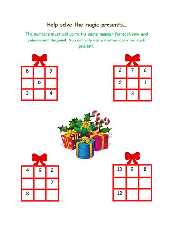 Magic Number Squares Problem Solving