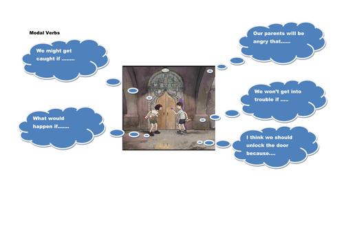 Modal verbs  to teach  in context