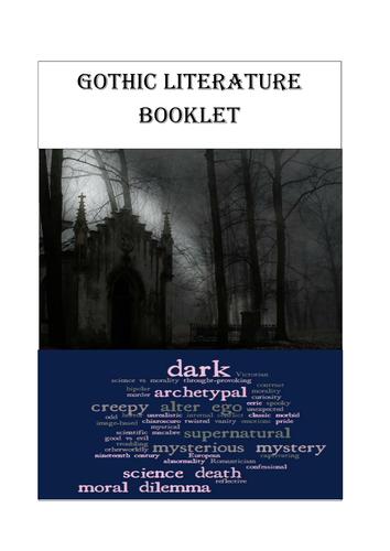Gothic Literature Booklet - Homework/classroom activites