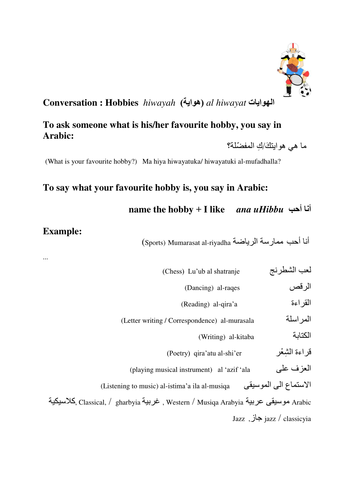 Useful words and phrases in arabic by thetreasurebox teaching hobbies m4hsunfo