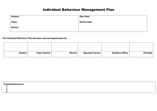 Behaviour guidance plan template images template design for Mission essential contractor services plan template