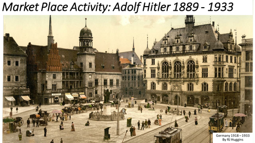 Market Place Activity: Adolf Hitler 1889 - 1933