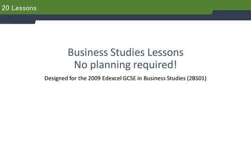36 Business Studies lesson ideas